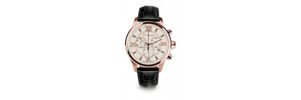 Montegrappa - Watch - Chronograph Fortuna - Rose Gold - Silver - Black
