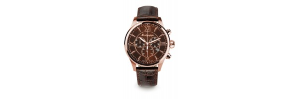 Montegrappa - Watch - Chronograph Fortuna - Rose Gold - Brown - Brown