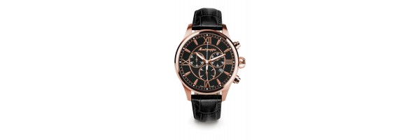 Montegrappa - Watch - Chronograph Fortuna - Rose Gold - Black - Black