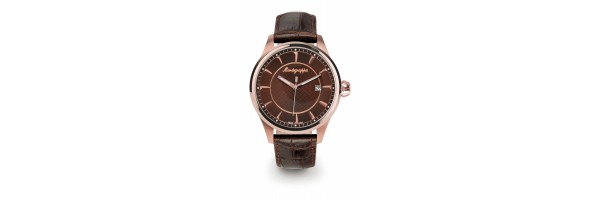 Montegrappa - Watch - Solo Tempo Fortuna - Rose Gold - Brown