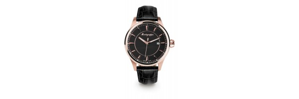 Montegrappa - Watch - Solo Tempo Fortuna - Rose Gold - Black
