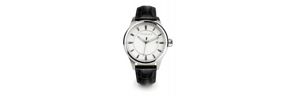 Montegrappa - Watch - Solo Tempo Fortuna - Steel Silver - Black