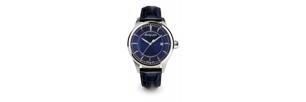 Montegrappa - Watch - Solo Tempo Fortuna - Steel Blue - Black