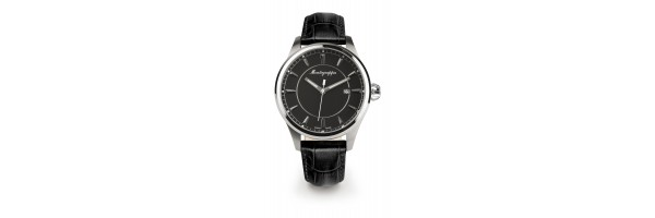 Montegrappa - Watch - Solo Tempo Fortuna - Steel Black - Black