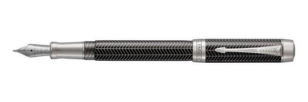 Parker - Duofold - Prestige Black Chevron CT- Fountain Pen
