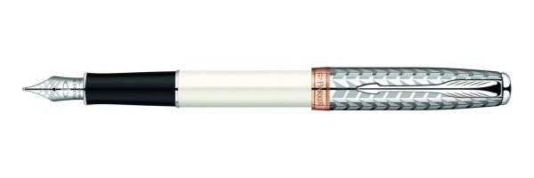 Parker - Sonnet - Metal Pearl Laquer CT RG- Fountain Pen