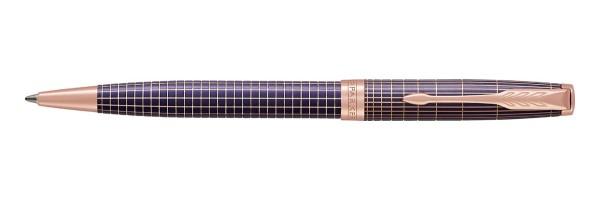 Parker - Sonnet - Purple Matrix Chiselled PGT - Ballpoint