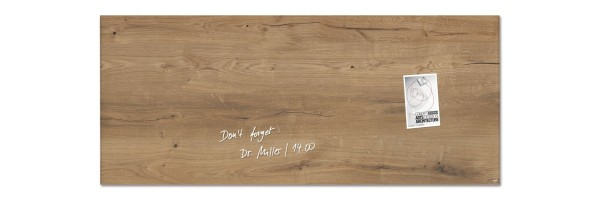 GL247 - Sigel - Magnetic Glass Boards - Natural Wood - 130 x 55 cm