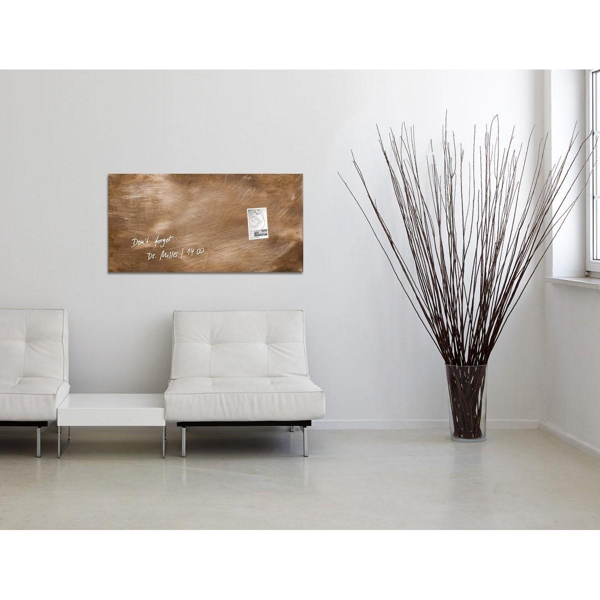 GL267 - Sigel - Lavagna Magnetica - Used-Bronze, 91 x 46 cm