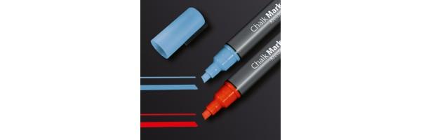 GL183 - Sigel - Marcatore a gesso 50, punta obliqua 1-5 mm - Bicolore