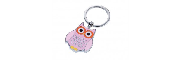"Troika - Keyring - Owl ""Curly"" Rose"
