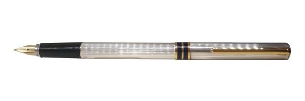 Aurora - Marco Polo - Silver Gold Fountain Pen