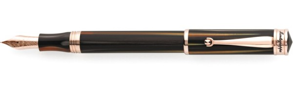 Montegrappa - Ducale - Rose Gold & Brown Emperador Fountain Pen