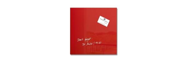GL159 - Sigel - Lavagna Magnetica - Rossa 30 x 30 x 1,5 cm