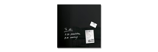 GL110 - Sigel - Magnetic Glass Board - Black - 48 x 48 cm