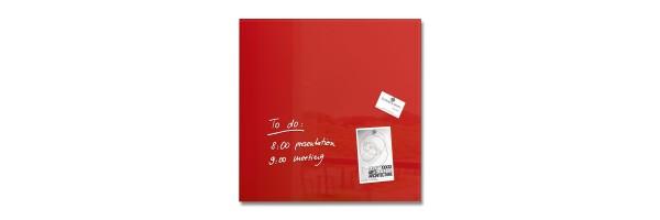 GL114 - Sigel - Lavagna Magnetica - Rossa - 48 x 48 x 1,5 cm