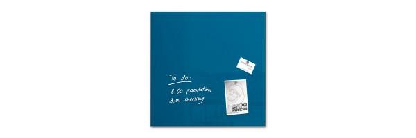 GL252 - Sigel - Lavagna Magnetica - Blu Petrolio - 48 x 48 x 1,5 cm
