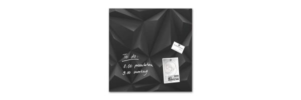 GL257 - Sigel - Magnetic Glass Board - Black Diamond - 48 x 48 x 1,5 cm