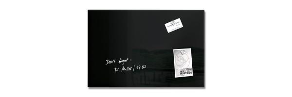GL120 - Sigel - Magnetic Glass Board - Black - 60 x 40 x 1,5 cm