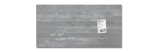 GL148 - Sigel - Magnetic Glass Board - Concrete - 91 x 46 cm