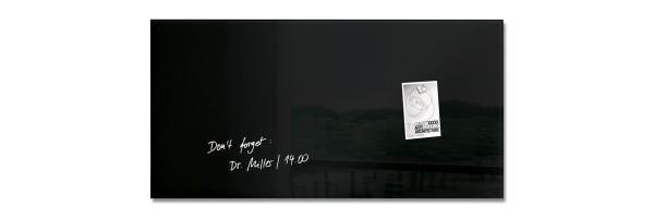 GL145 - Sigel - Magnetic Glass Board - Black - 91 x 46 cm