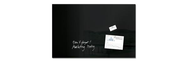 GL140 - Sigel - Magnetic Glass Board - Black - 100 x 65 cm