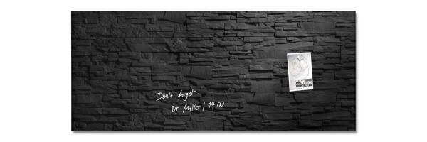 GL249 - Sigel - Magnetic Glass Boards - Slate - 130 x 55 cm