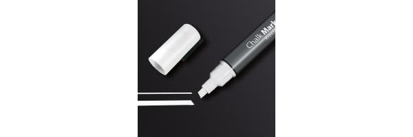 GL181 - Sigel - Marcatore a gesso 50, punta obliqua 1-5 mm - Bianco