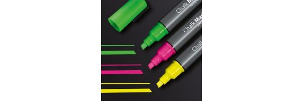 GL182 - Sigel - Marcatore a gesso 50, punta obliqua 1-5 mm - Multicolore