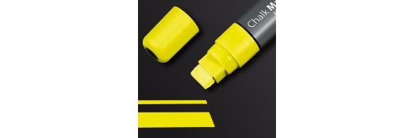 GL173 - Sigel - Marcatore a gesso 150, punta obliqua 5-15 mm - Giallo