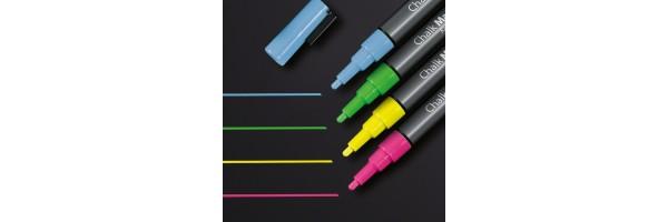 GL179 - Sigel - Marcatore a gesso 20, punta tonda 1-2 mm - Multicolore