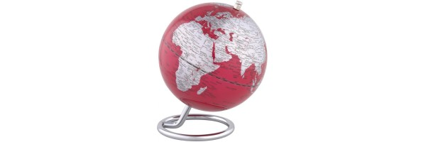 Emform - Mini Globe - Galilei - Red