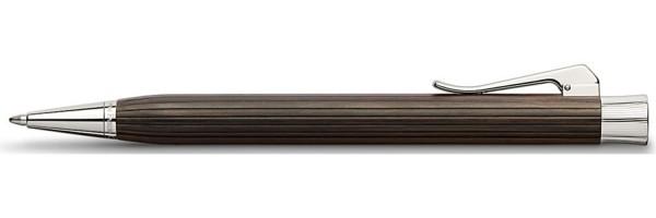Penna a sfera Corpo in legno di grenadilla. Clip e finiture placcate platino.