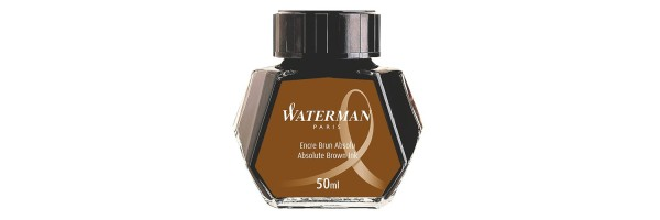 Waterman - Flacone inchiostro - Absolte Brown