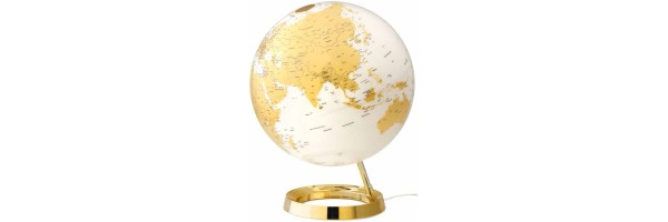 Atmosphere - Illuminated Globe - Gold