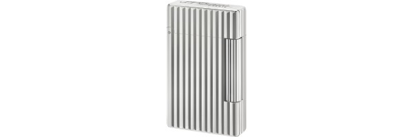 Dupont - 020802 - Initial Lighter - White bronze Linee