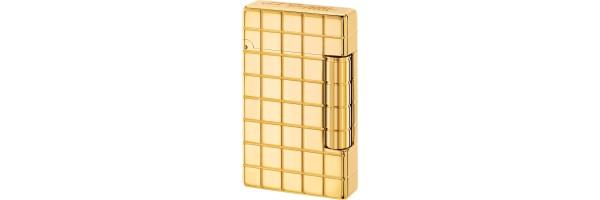 Dupont - 020801 - Initial Lighter - Golden bronze Quadri