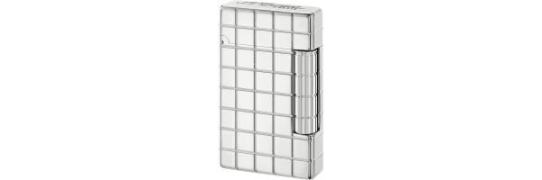 Dupont - Accendino Initial - White Bronze Quadri