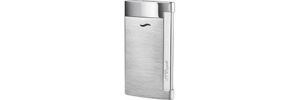 Dupont - 027701 - Accendino Slim 7 - Brushed Chrome Grey