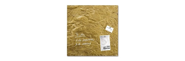GL262 - Sigel - Magnetic glass boards - Metallic Gold - 48 x 48 x 1,5 cm