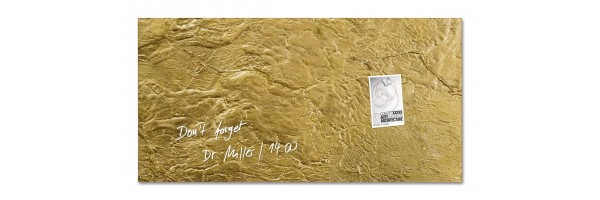 GL266 - Sigel - Lavagna Magnetica - Metallic-Gold, 91 x 46 cm