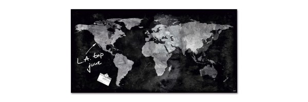 GL270 - Sigel - Lavagna Magnetica - World-Map - 91 x 46 cm