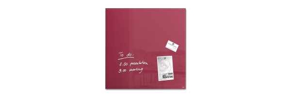 GL272 - Sigel - Magnetic glass boards - Berry red - 48 x 48 x 1,5 cm